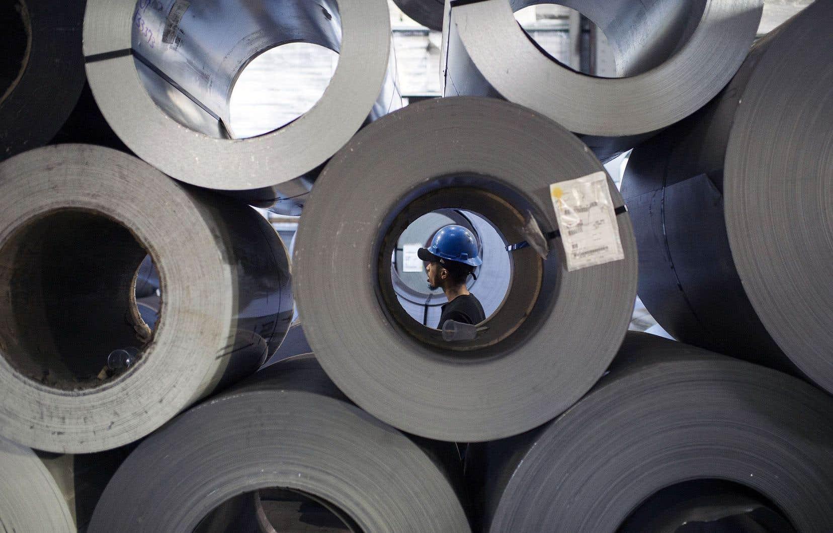 Donald Trump a imposé 10?% et 25?% de taxes respectivement sur l'aluminium et l'acier importés.