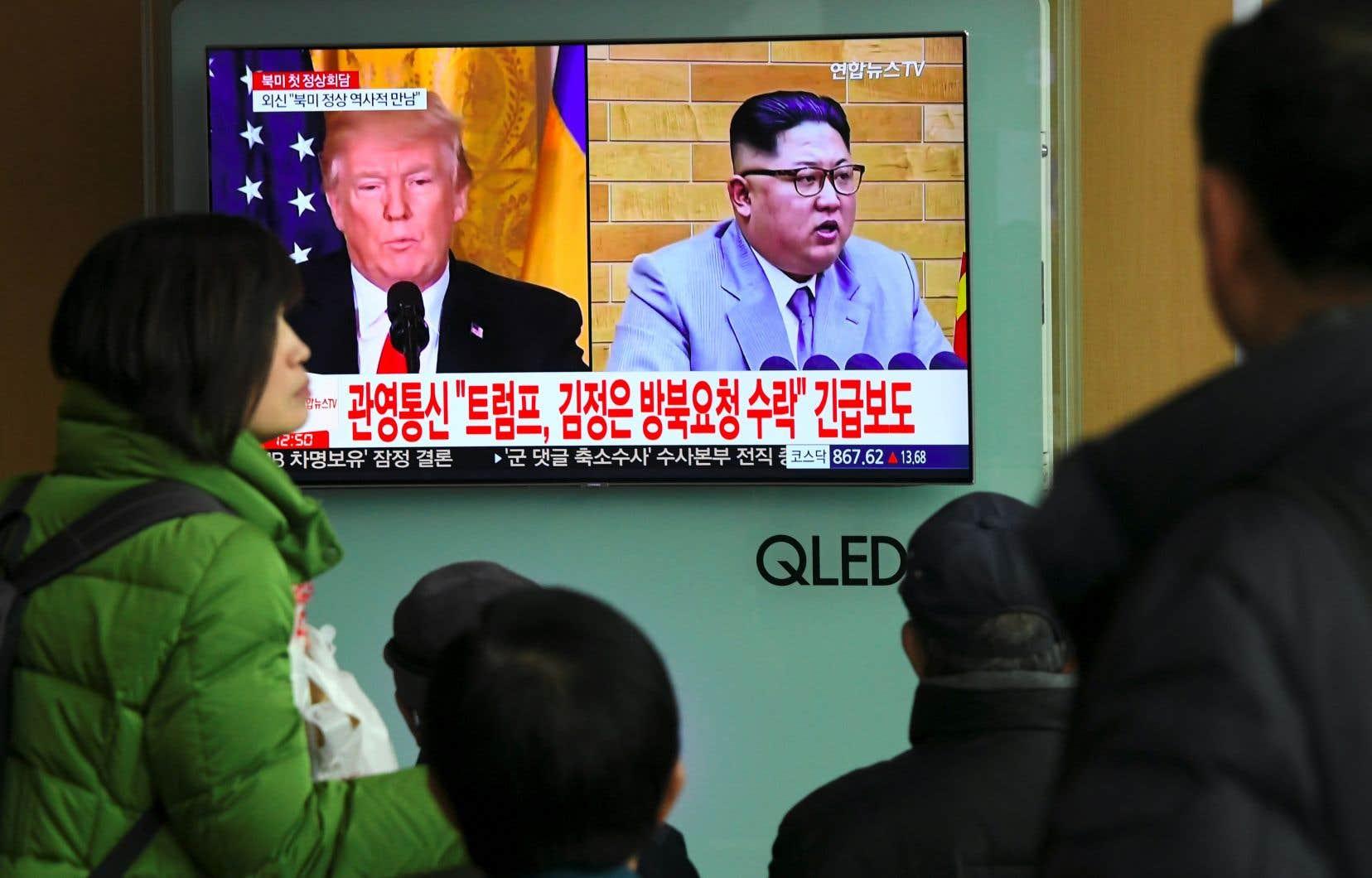 Le président américain, Donald Trump, et le leader nord-coréen, Kim Jong-un