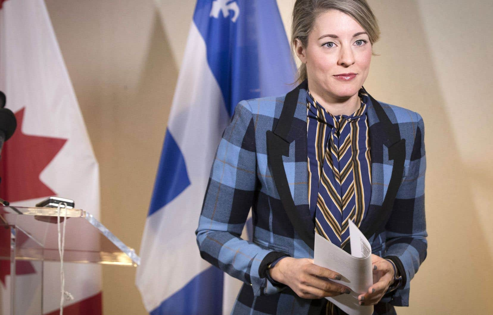 La ministre du Patrimoine, Mélanie Joly, revient de la Silicon Valley, où elle a pu faire part des attentes du Canada à l'égard des géants du Web.