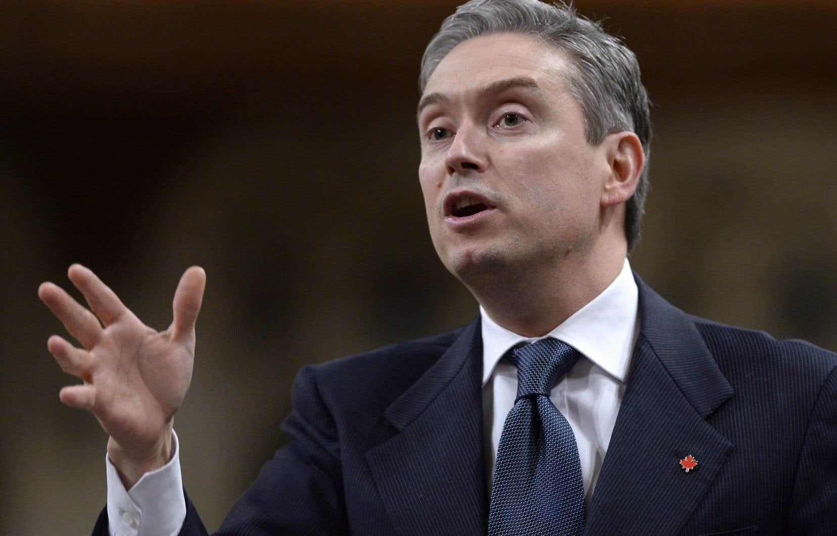 «La plupart des pays du G7 ont déjà une agence comme celle-là», a expliqué le ministre du Commerce international, François-Philippe Champagne.