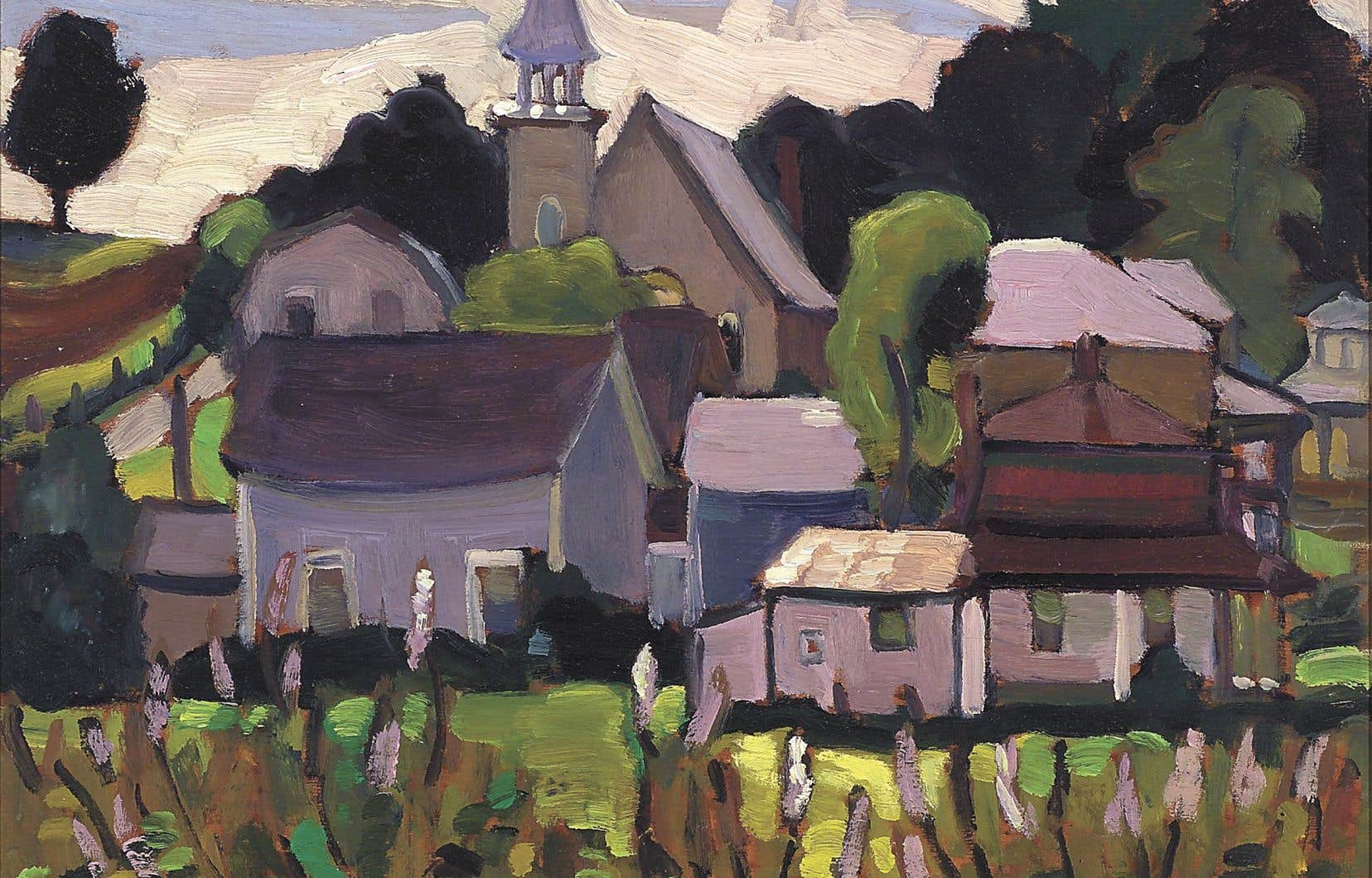 «Foster Village», de l'artiste Norah Collyer Foster, fait partie de la collection permanente du Musée Bruck.
