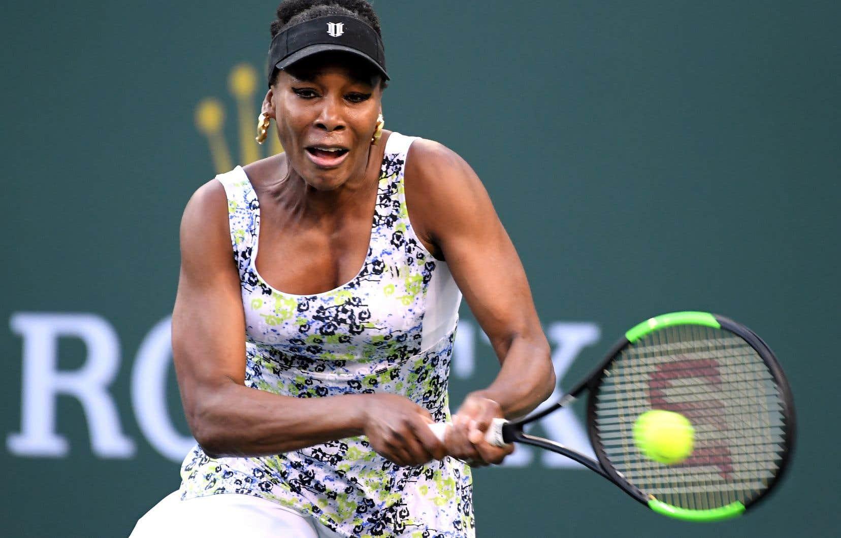 Venus Williams a mis 71 minutes pour vaincre Suarez Navarro pour la quatrième fois d'affilée, jeudi.