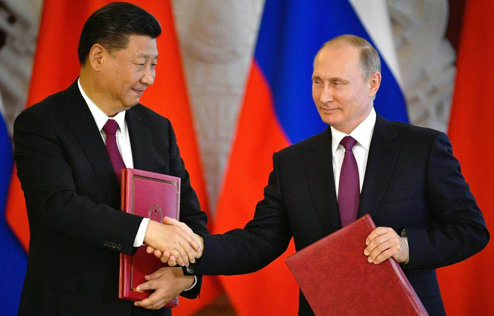 Le président chinois, Xi Jinping, et son homologue russe, Vladimir Poutine.