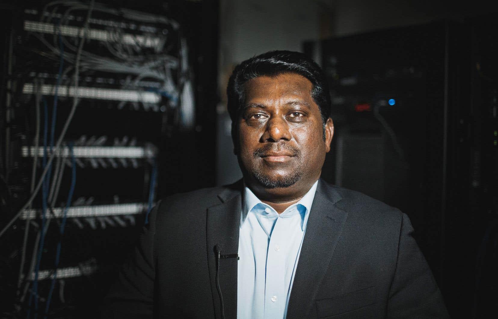 Le spécialiste en intelligence artificielleJothi Periasamy est de passage à Montréal cette semaine en vue de la conférence qu'il présentera ce mardi dans le cadre de Datavore.
