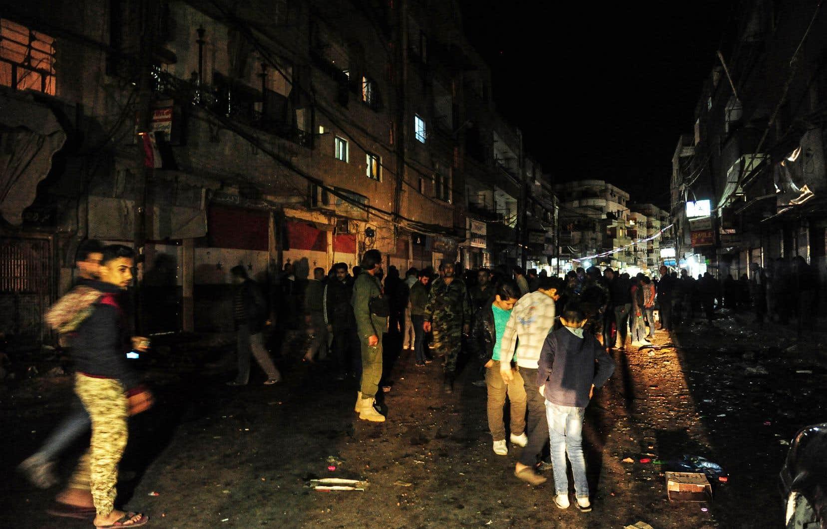 L'attaque a été imputée par Sana «aux rebelles de la Ghouta orientale».