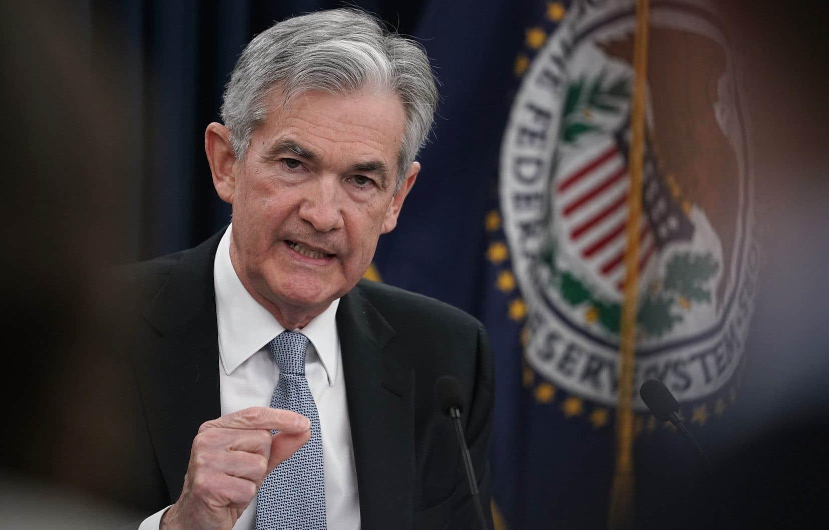 Jerome Powell a présidé sa première réunion de politique monétaire depuis le départ, en janvier, de sa prédécesseure, Janet Yellen.