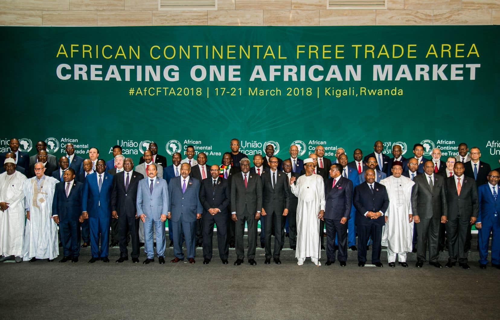 L'accord établissant la ZLEC a été signé par 44 pays.