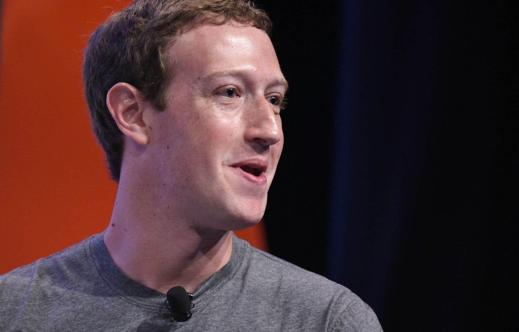 Le grand patron de Facebook, Mark Zuckerberg