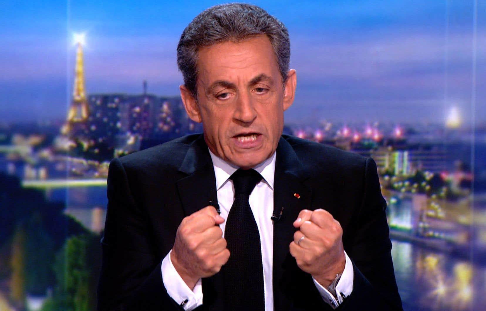 Nicolas Sarkozy s'est expriméau journal de 20heures sur la chaîne de télévision TF1.