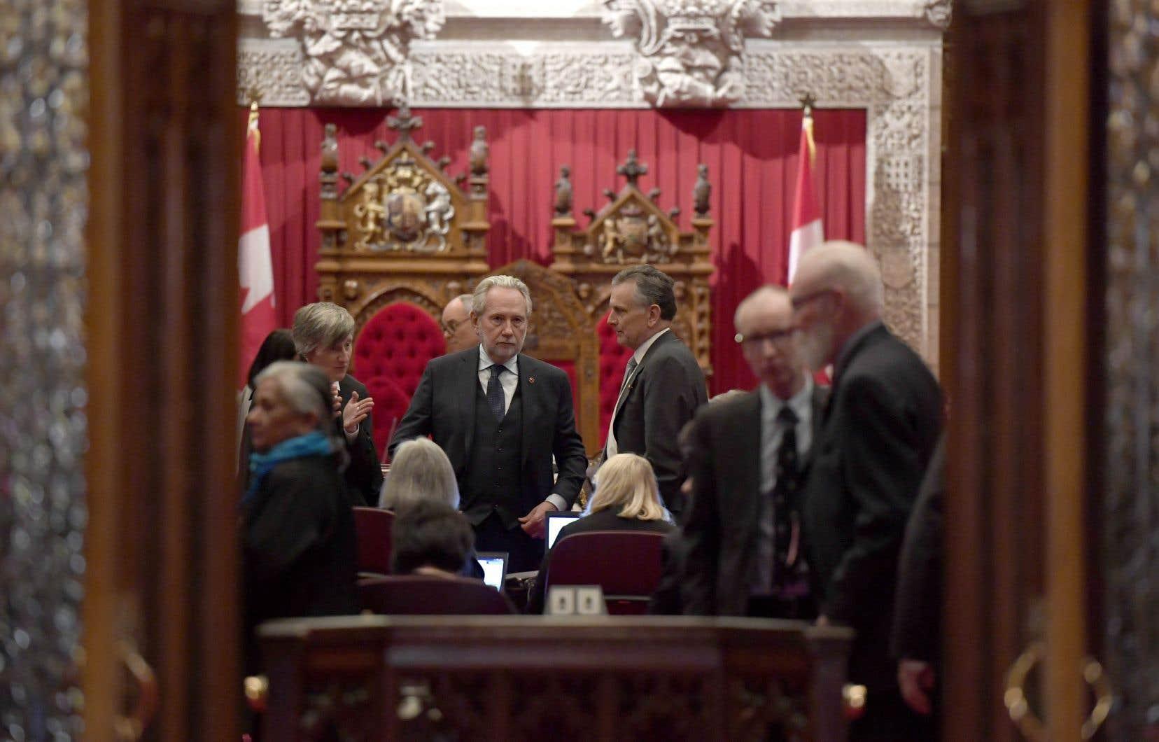 Le sénateur Peter Harder estimait avoir suffisamment d'appuis dans son camp pour assurer l'adoption de la mesure législative C-45 en deuxième lecture.