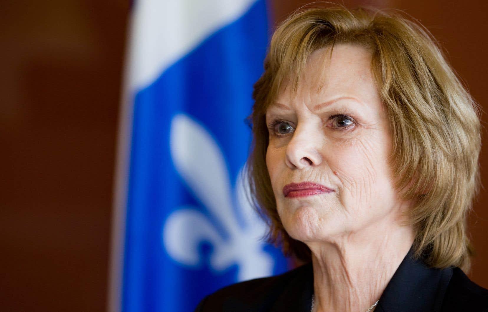 Lisette Lapointe avait quitté le parti en 2011.