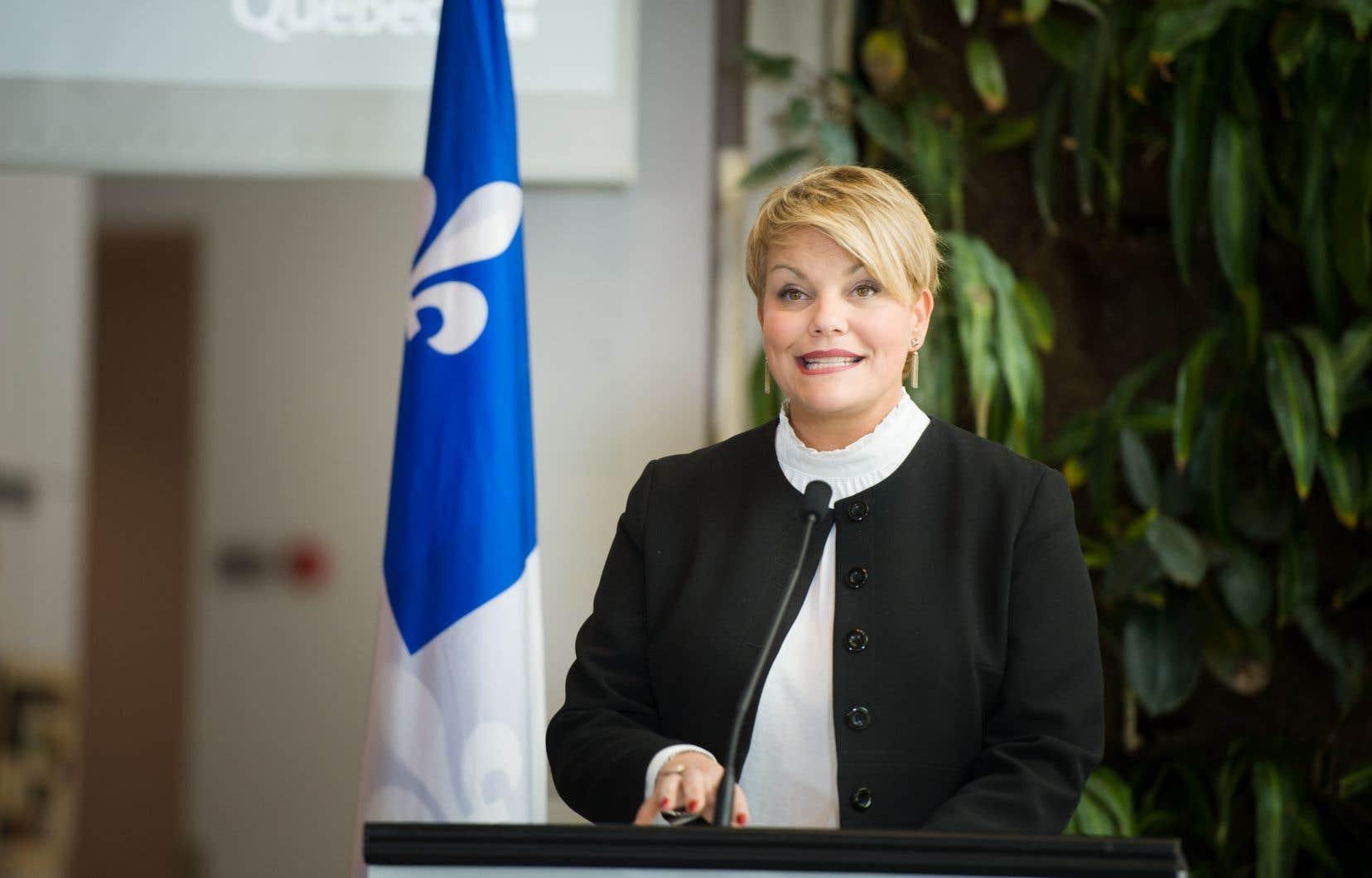 La ministre de l'Environnement Isabelle Melançon a dévoiléle bilan mi-parcours du Plan d'action 2013-2020 sur les changements climatiques.