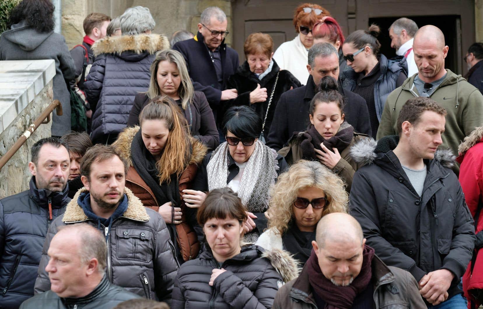 Les habitants de Trèbes et des environs étaient nombreux à assister à la cérémonie tenue par l'évêque Alain Planet.