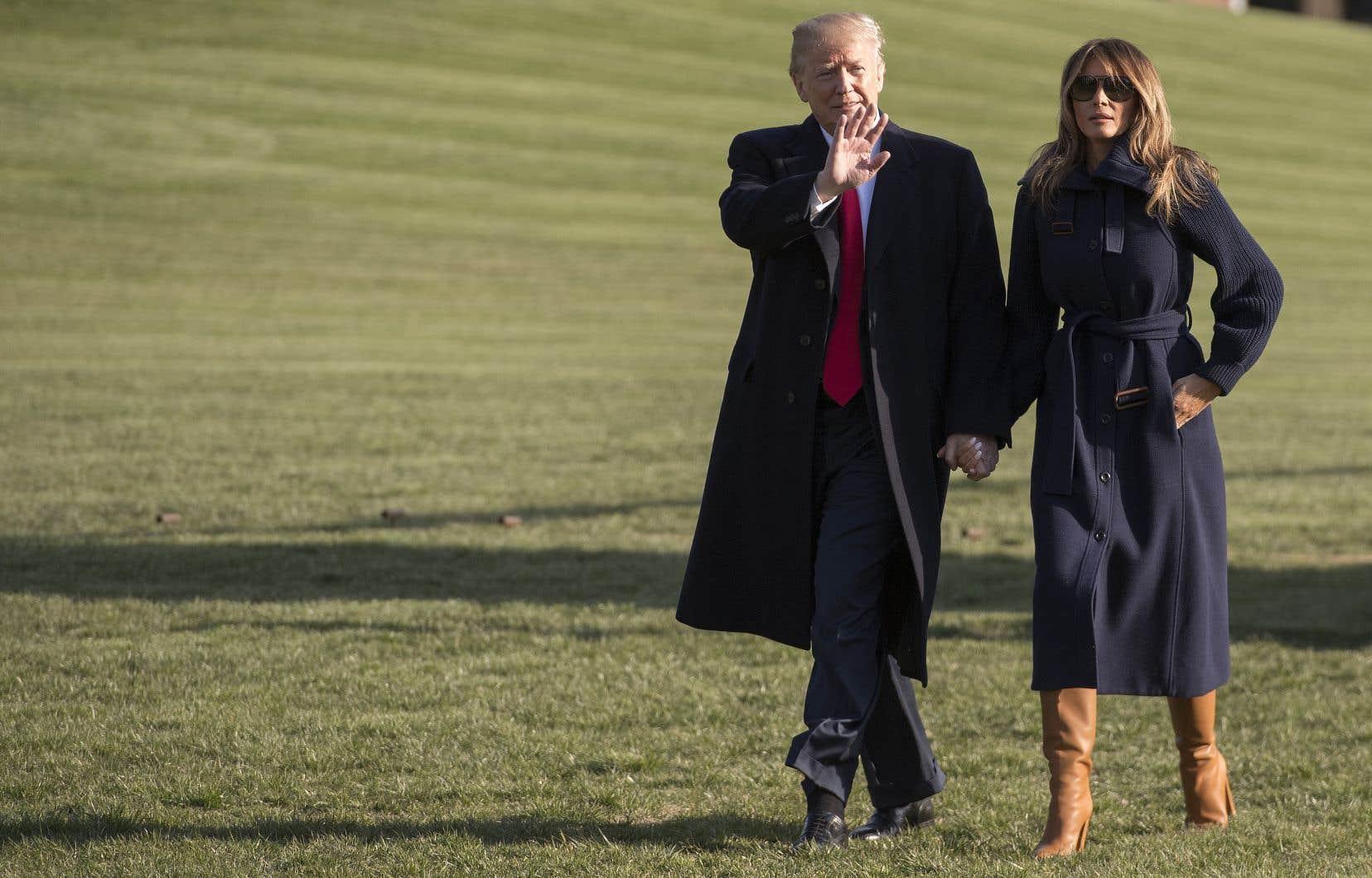 Le président américain aux côtés de sa femme, Melania Trump, la semaine dernière