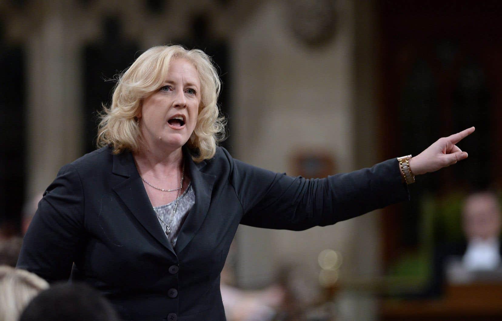 La chef adjointe du Parti conservateur, Lisa Raitt