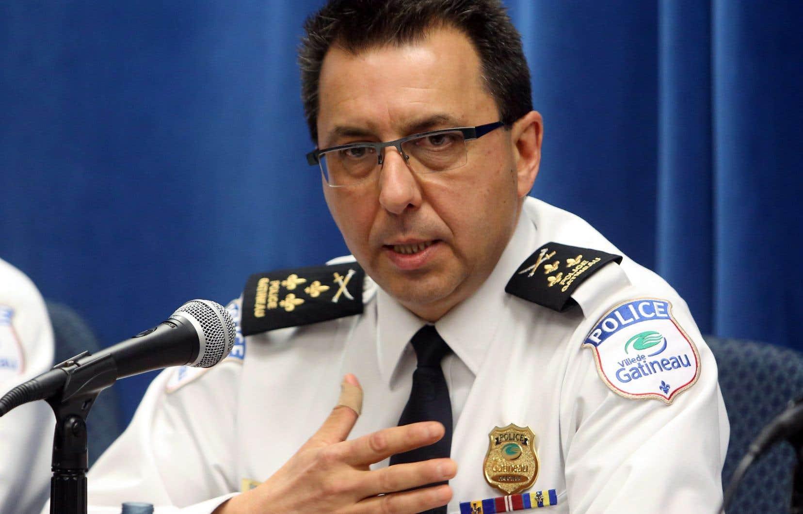 Le directeur du Service de police de la Ville de Gatineau, Mario Harel