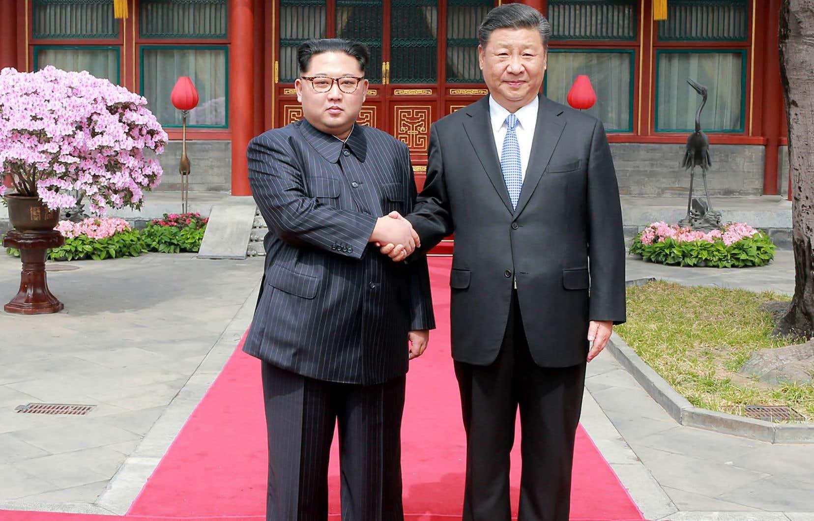 Kim Jong-un a été accueilli en grande pompe à Pékin pour sa première visite — secrète — en Chine.