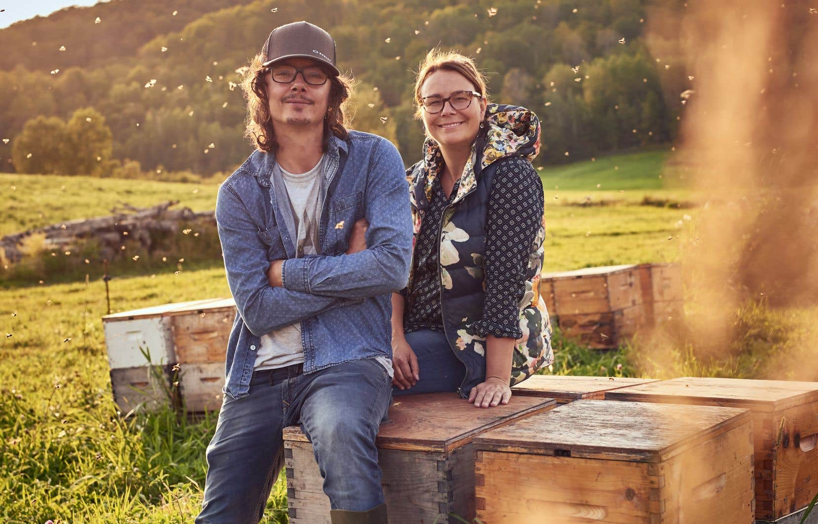 C'est Anicet Desrochers et Anne-Virginie Schmidt qui produisent le miel dont tout le monde parle.