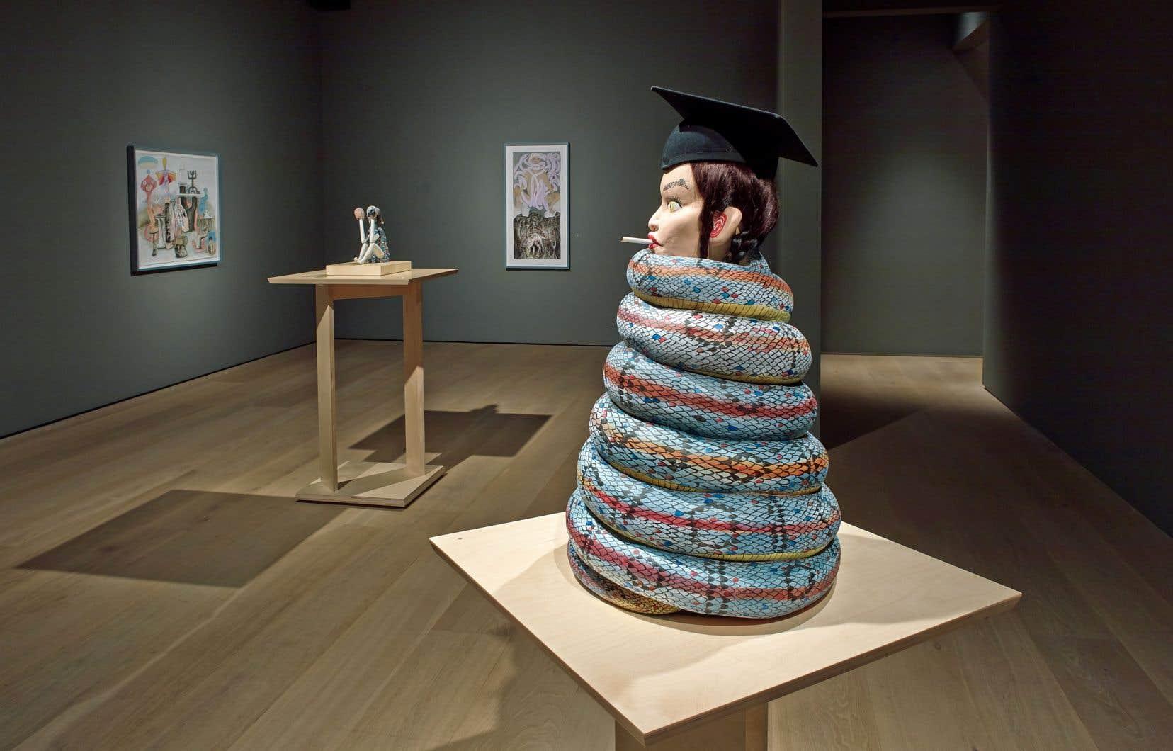 Vue de l'exposition «Terriens», Fondation Esker, Calgary, 2017