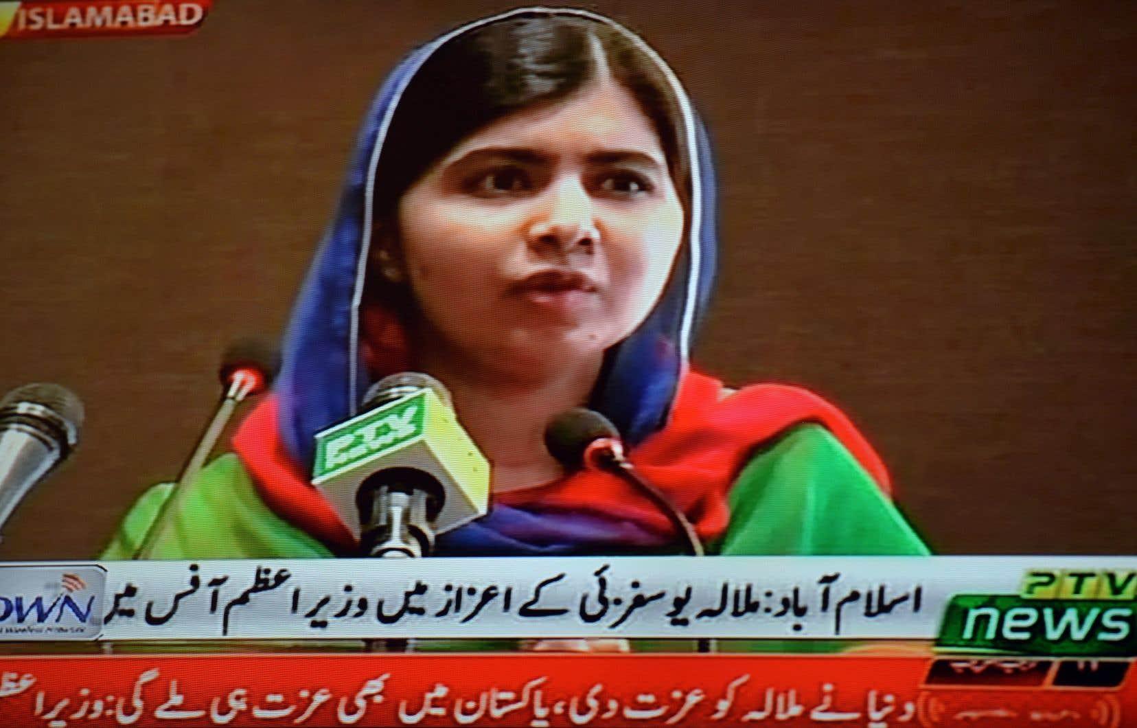 Face au premier ministre, Malala a longuement rappelé combien l'éducation des filles et l'indépendance des femmes étaient une priorité de sa lutte.