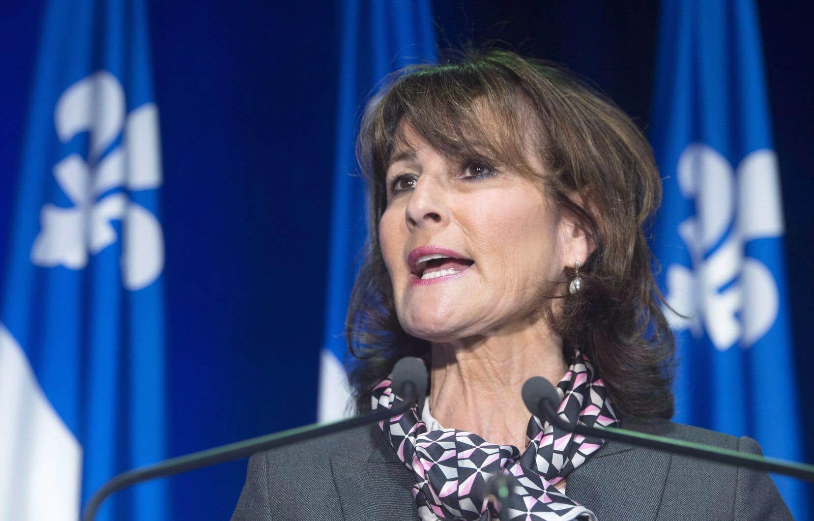 La ministre responsable de la Réforme des institutions démocratiques, Kathleen Weil