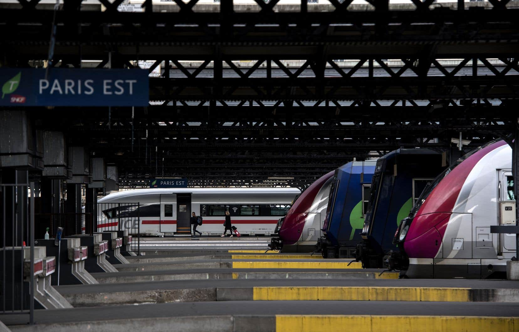 <p>Seuls un TGVsur huit et un train régional sur cinq circulaient.</p>