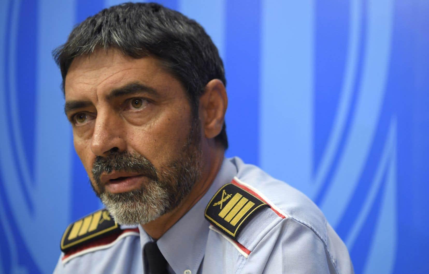 Josep Lluis Trapero, l'ancien chef des Mossos d'Esquadra, la police régionale catalane