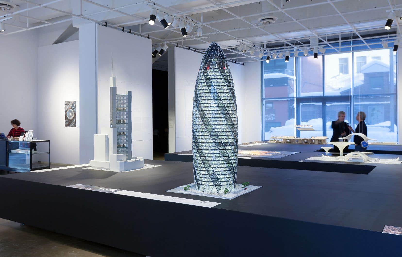 Maquette de la tour radiale de Londres, qualifiée de «cornichon»
