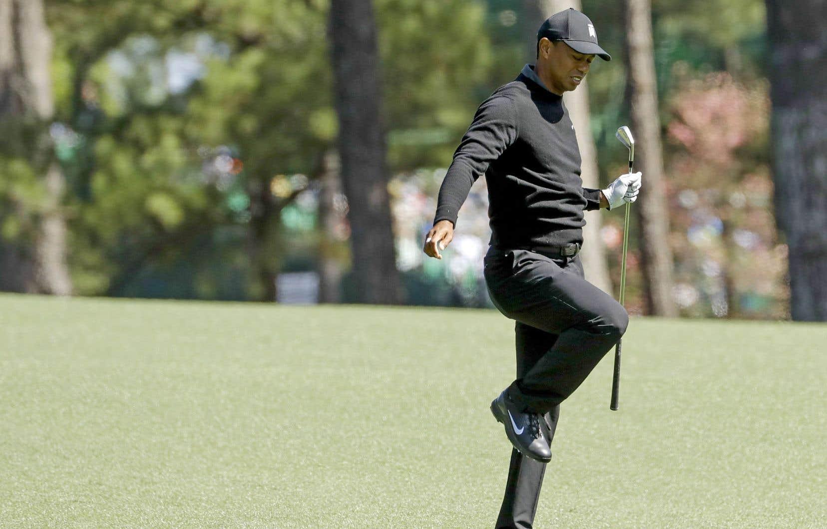 Tiger Woods est de retour au Tournoi des Maîtres, mais pas dans la position où bon nombre de ses fans souhaitaient le voir.