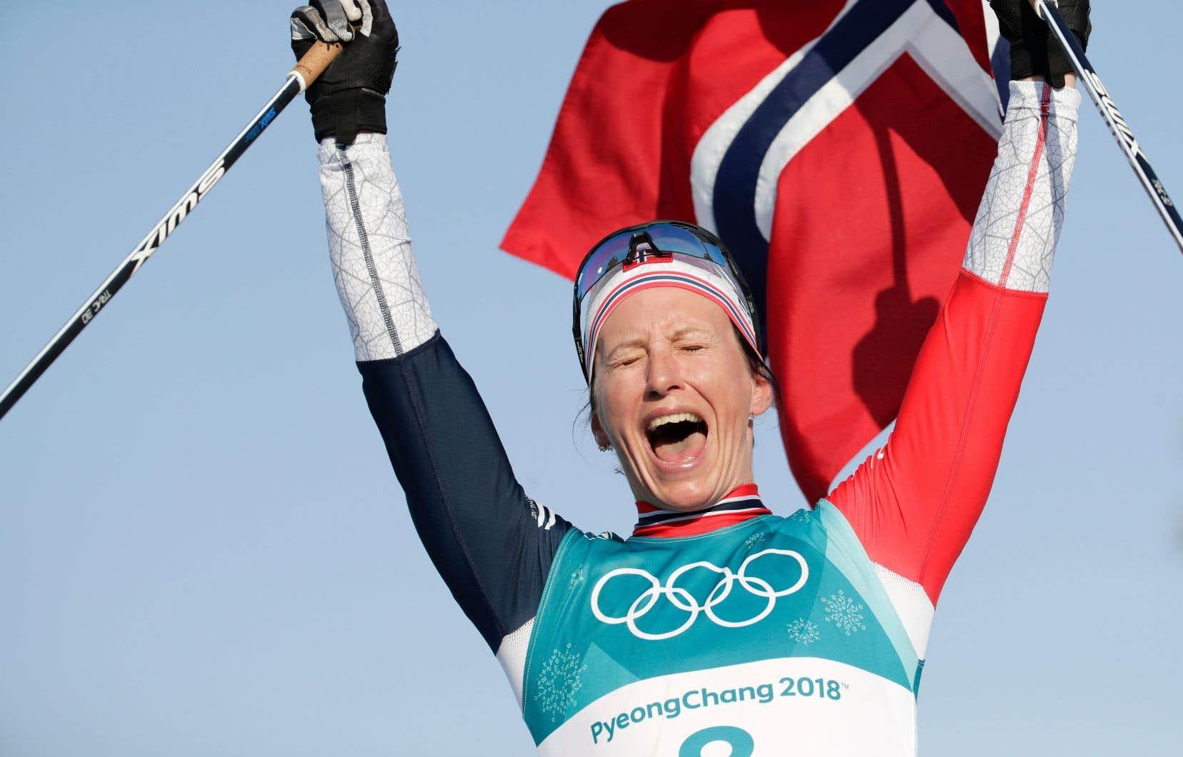 Marit Bjørgen a décroché 15 médailles olympiques, dont huit d'or.