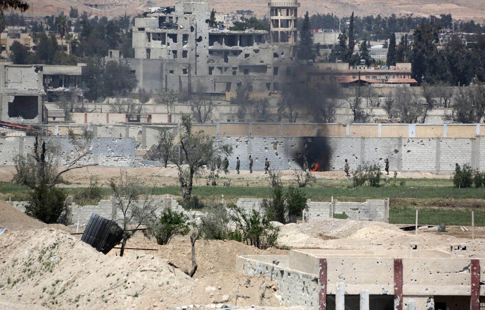 Le rapport de l'agence de presse syrienne survient quelques heures après que le président américain eut condamné la possible attaque chimique de l'armée syrienne à Douma.