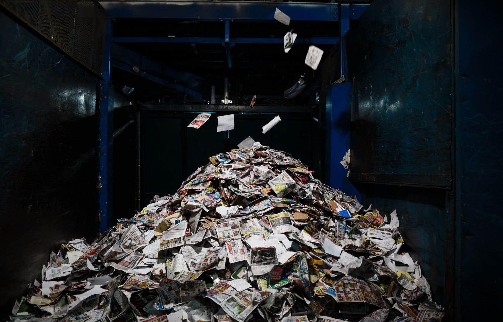 Pour le moment, il n'existe pas de solution pour éviter que les matières recyclables se retrouvent au dépotoir.