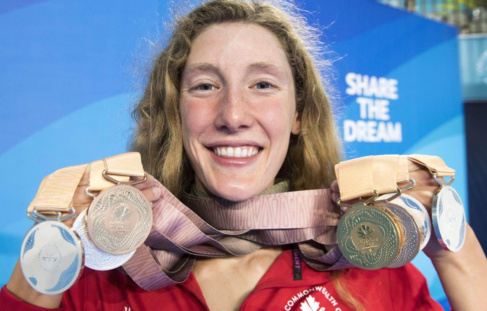 Ruck a remporté une médaille d'or, cinq d'argent et deux de bronze à la Gold Coast.