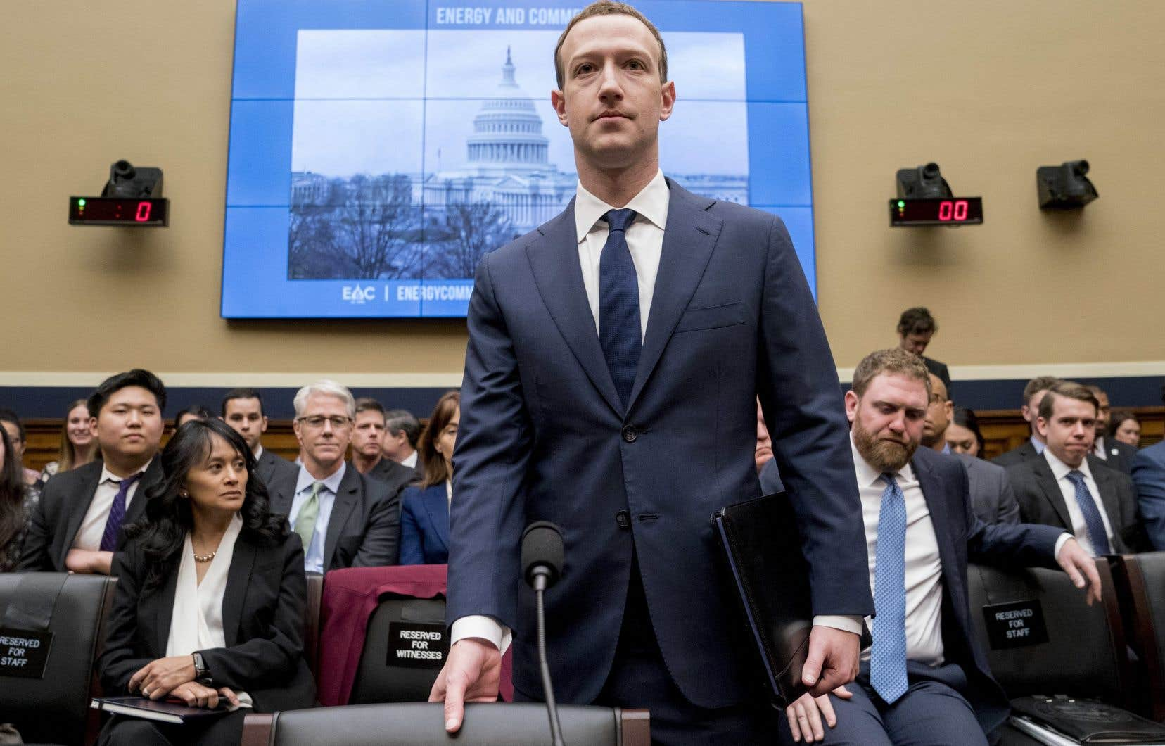 Mark Zuckerberg lors de son témoignage devant une commission de la Chambre des représentants, mercredi