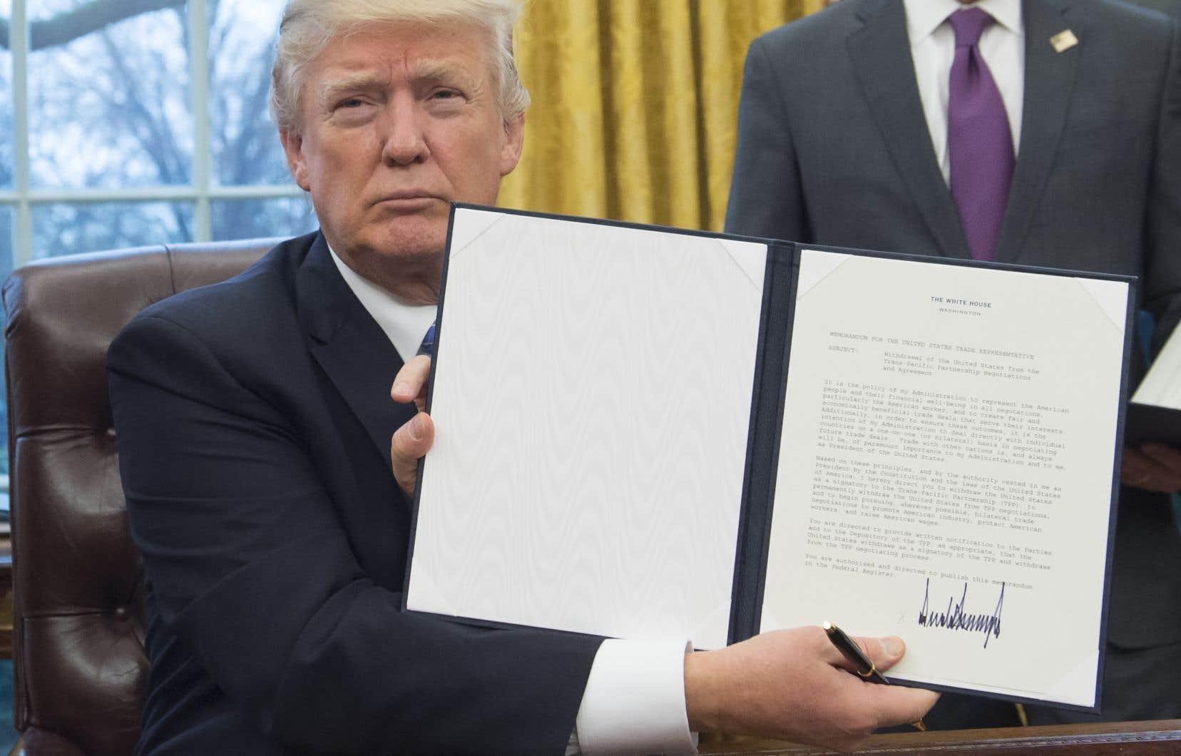 Donald Trump s'était retiré du PTP initial dès son arrivée à la Maison-Blanche, l'an dernier.