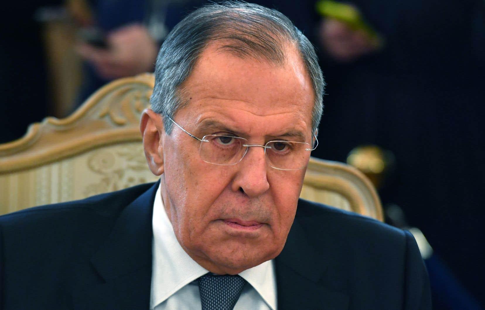 Le ministre russe des Affaires étrangères, Serguei Lavrov