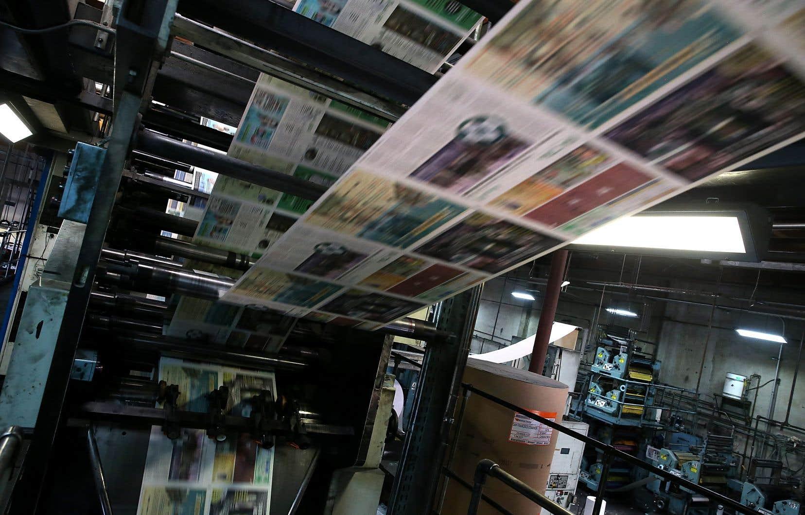 «Il faut que le gouvernement fédéral agisse pour soutenir les médias de la presse écrite», a martelé la présidente de la FNC-CSN, Pascale St-Onge.
