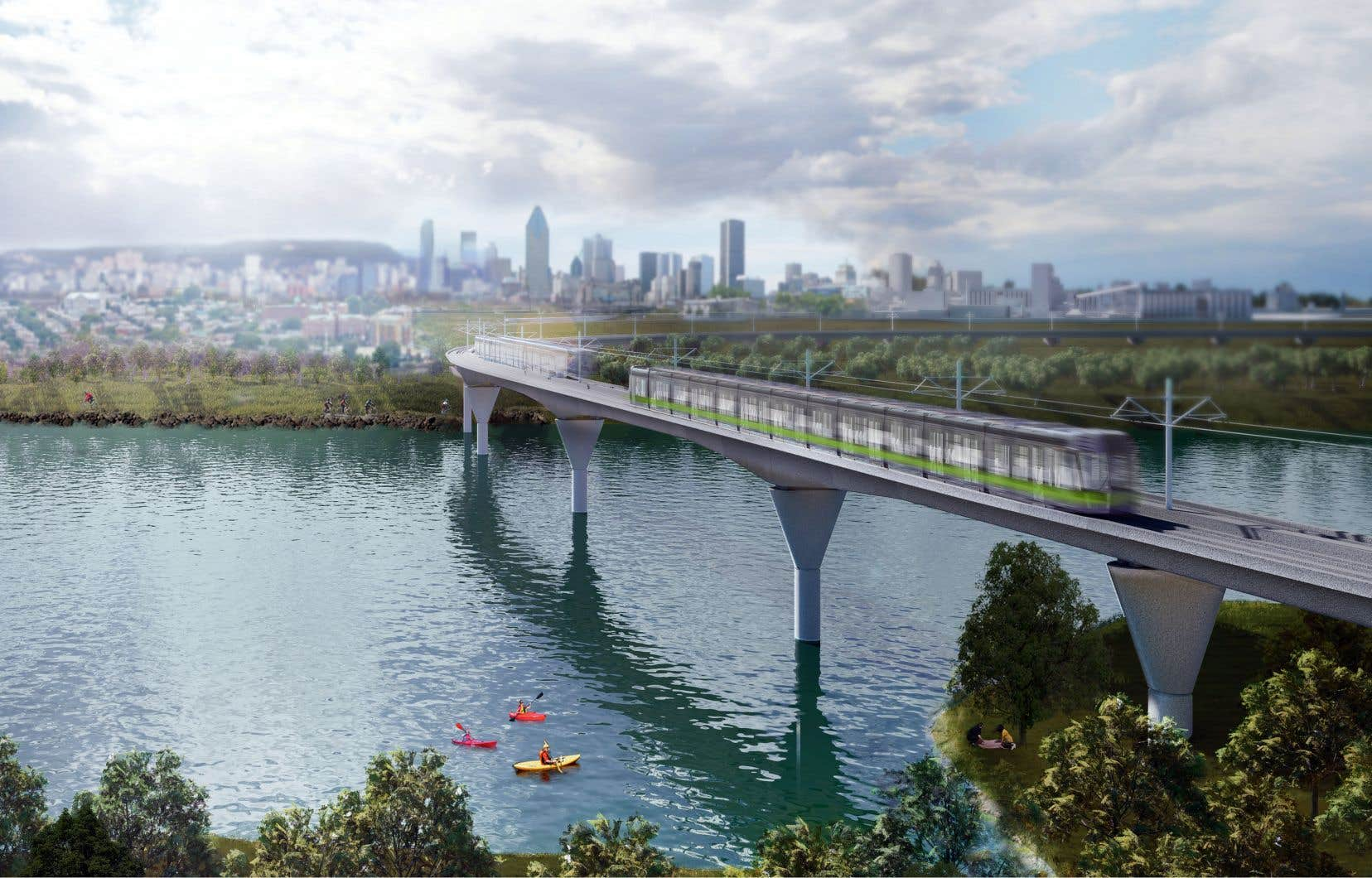 Le REM est un projet de 6,3 milliards financé à moitié par Québec, Ottawa et Hydro-Québec.