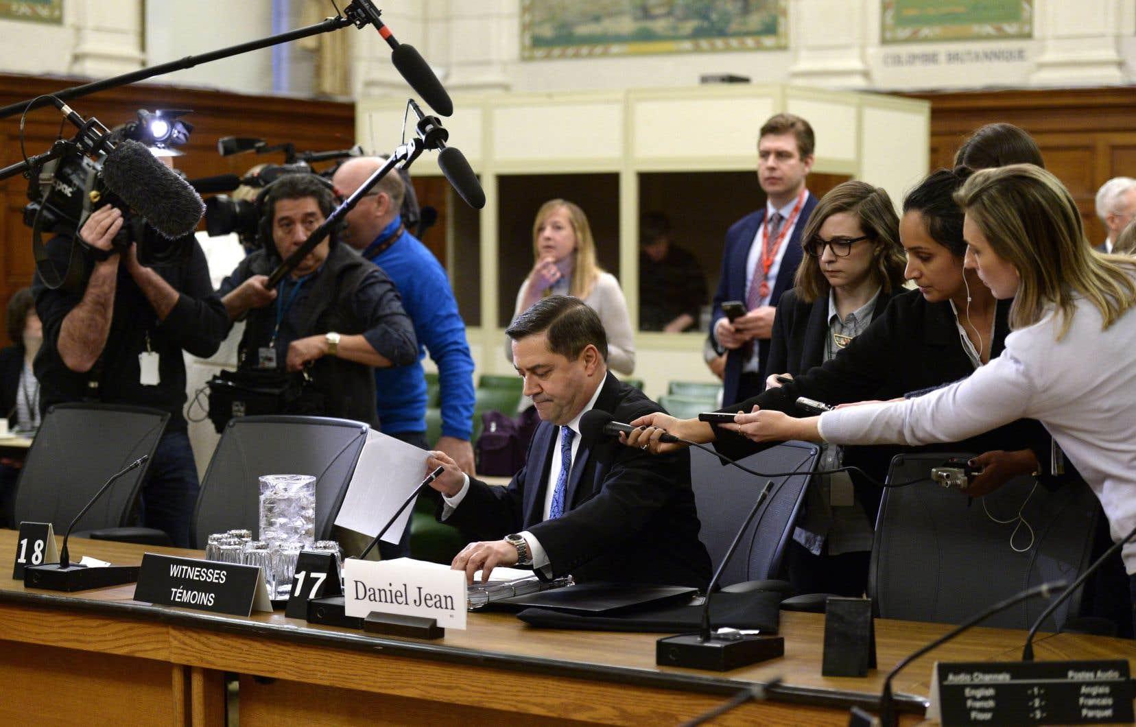 Le conseiller à la sécurité nationaleDaniel Jean étaitde passage au comité de la sécurité nationale lundi pour s'expliquer.