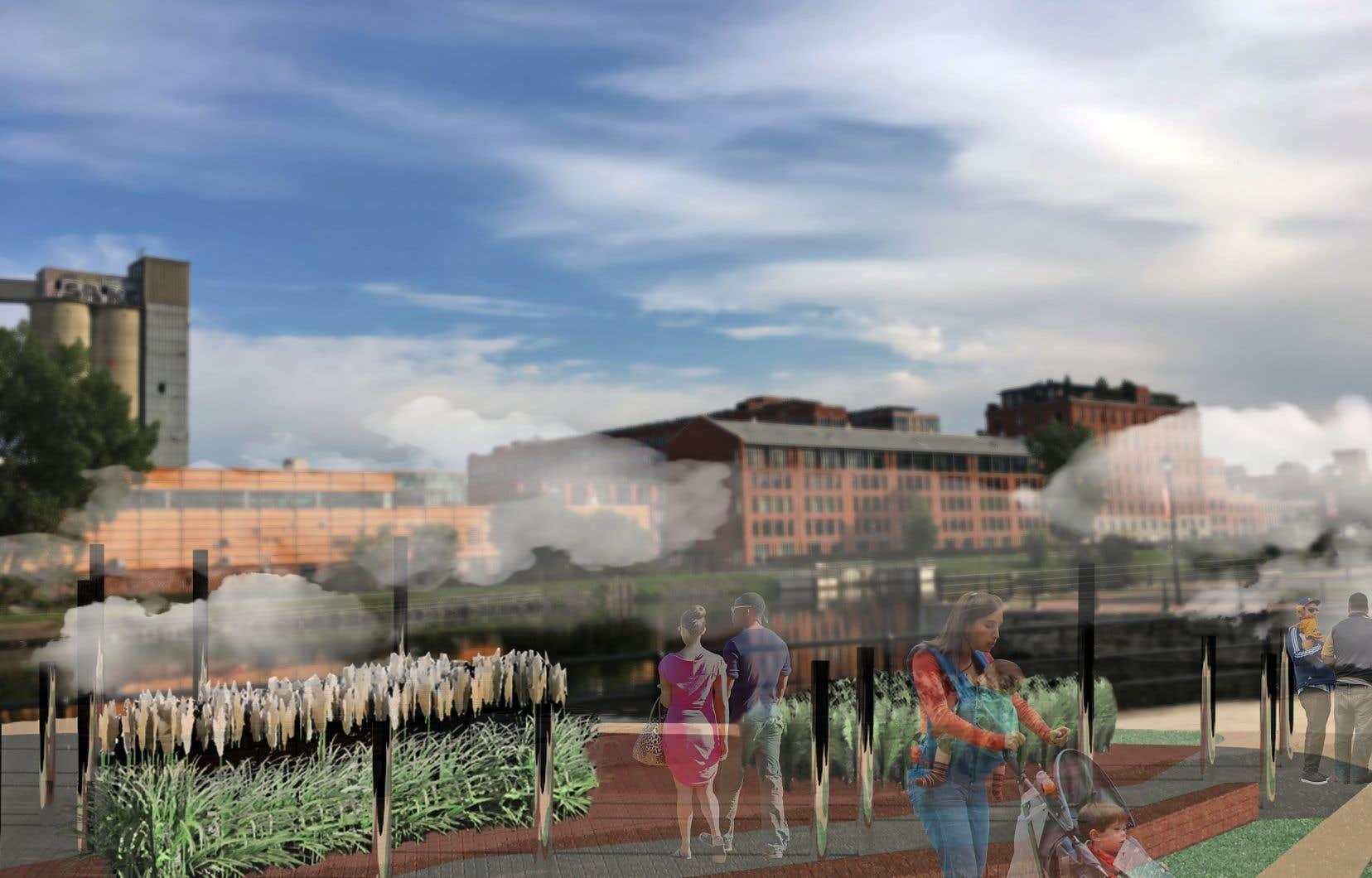 Perspective du projet Misty Valley des étudiantes Annabelle Daoust et Fany Rodrigue