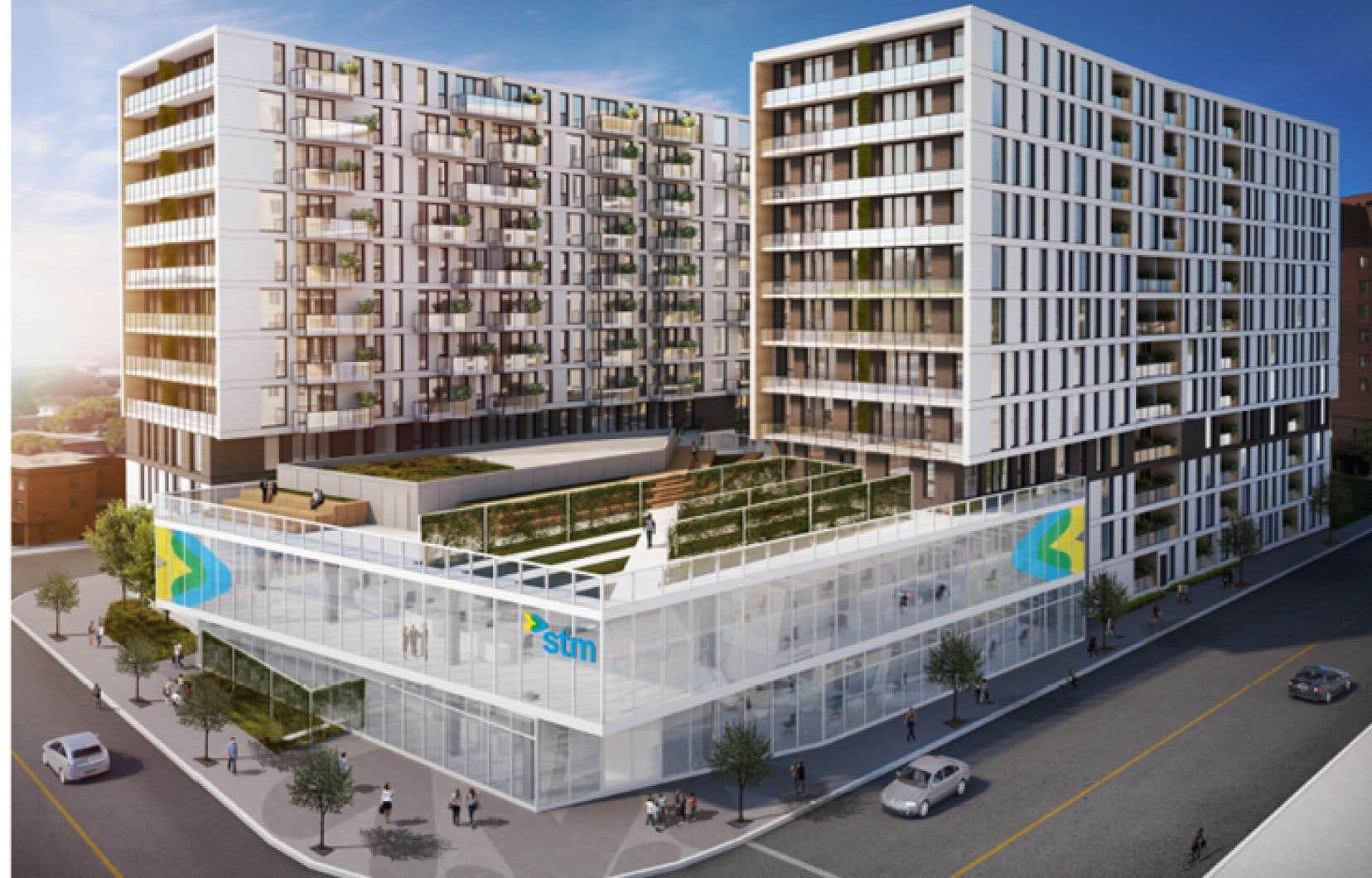 Un stationnement de surface adjacent à la station de métro Frontenac sera transformé en complexe immobilier de 298 unités.