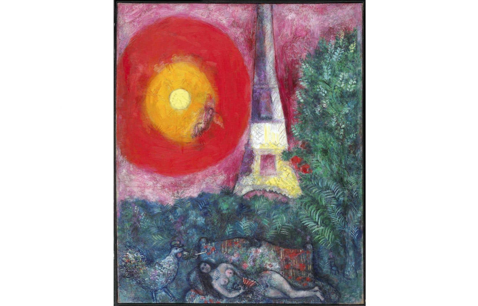 «La tour Eiffel», de Chagall