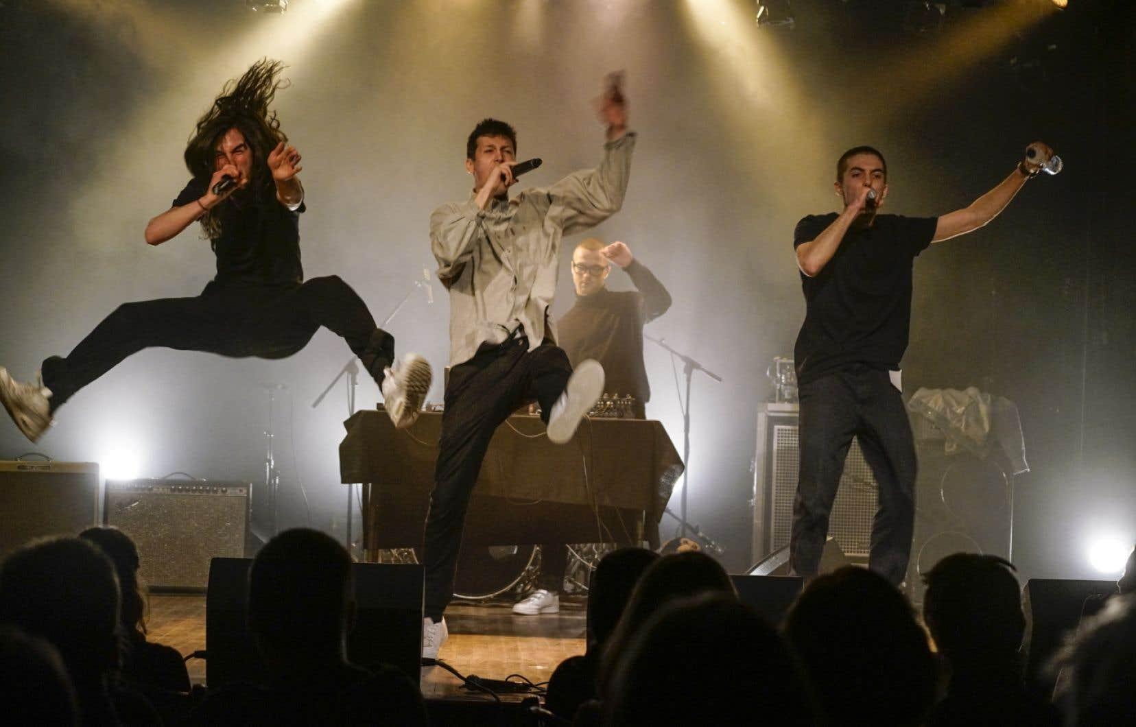 Le trio hip-hop LaF était attendu de pied ferme sur la scène du Lion d'or.