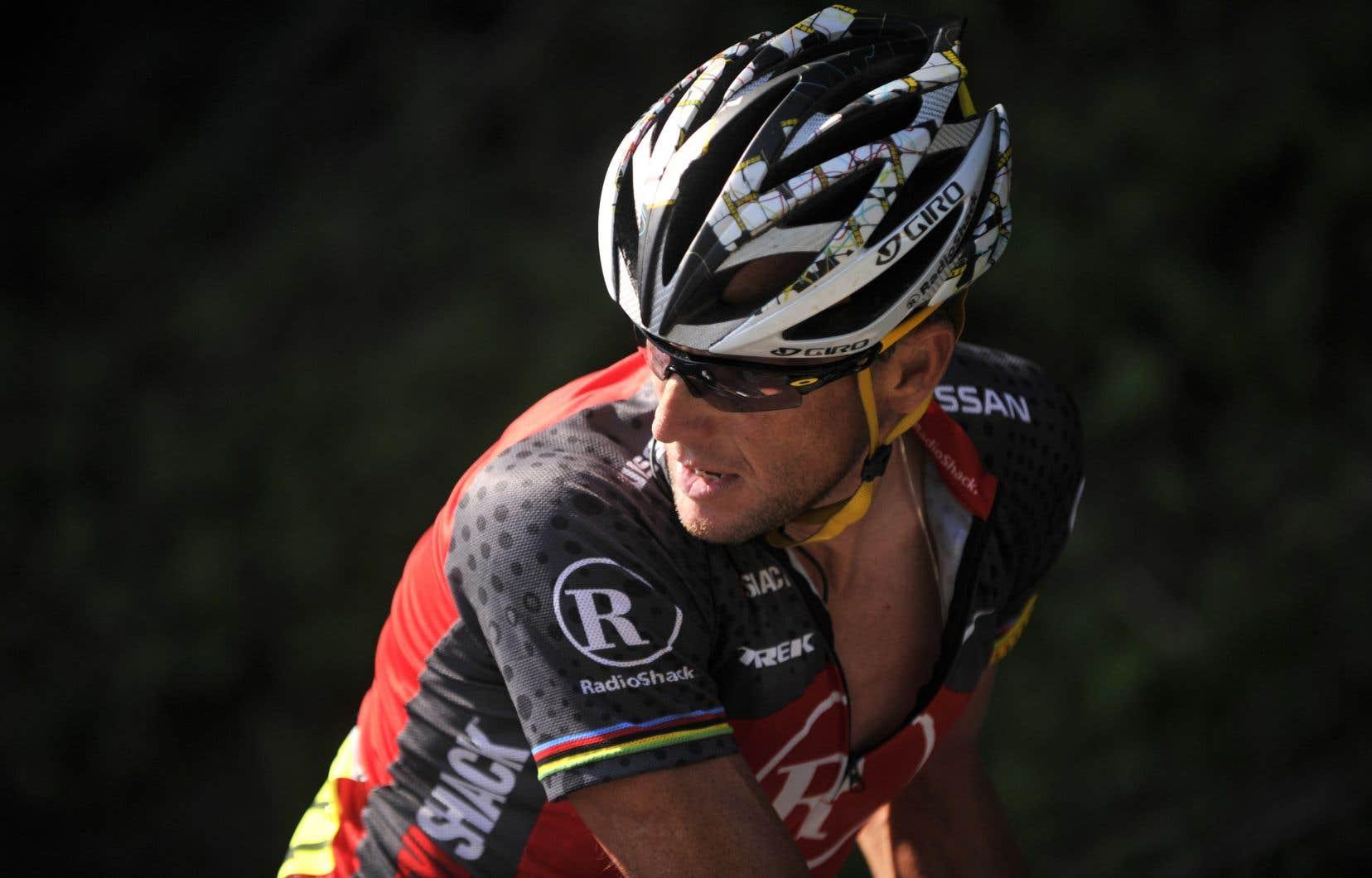 Lance Armstrong durant le Tour de France, en 2010