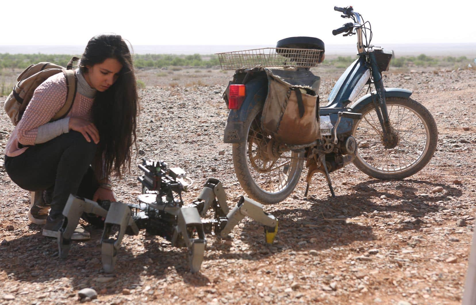 Lina El Arabi incarne le personnage d'Ayusha dans ce film de Kim Nguyen.