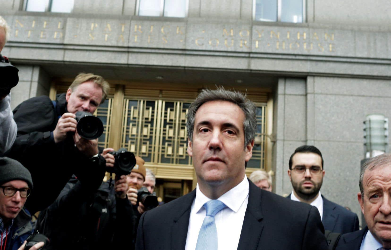 L'avocat personnel de Donald Trump, Michael Cohen, à New York plus tôt cette semaine