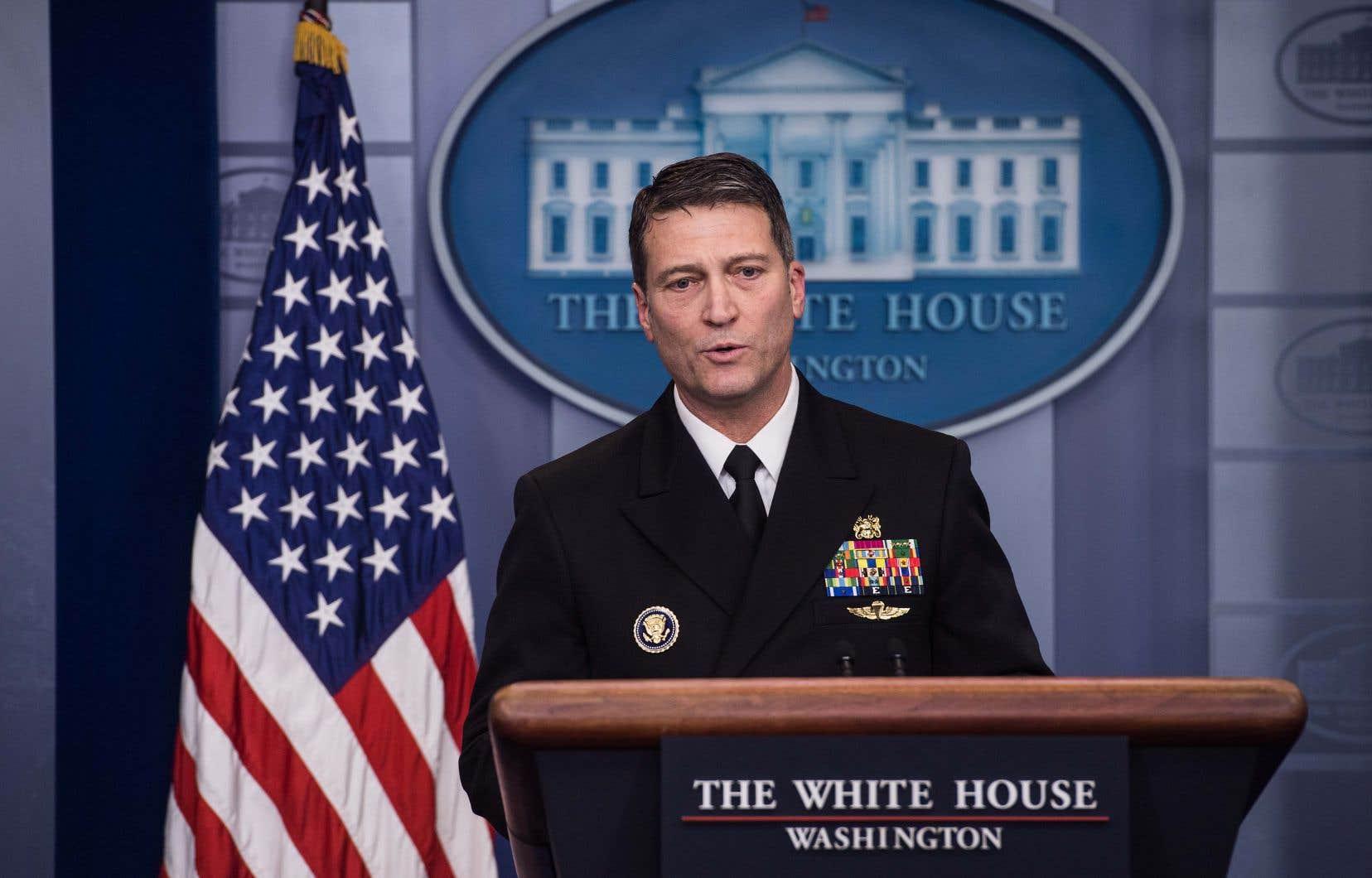 Ronny Jackson, le médecin militaire de la Maison-Blanche