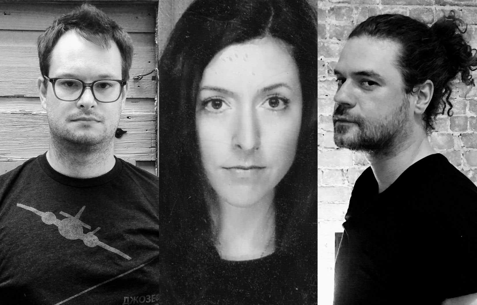 De gauche à droite:Hugo Beauchemin-Lachapelle, Sarah Brunet Dragon et François Guerrette
