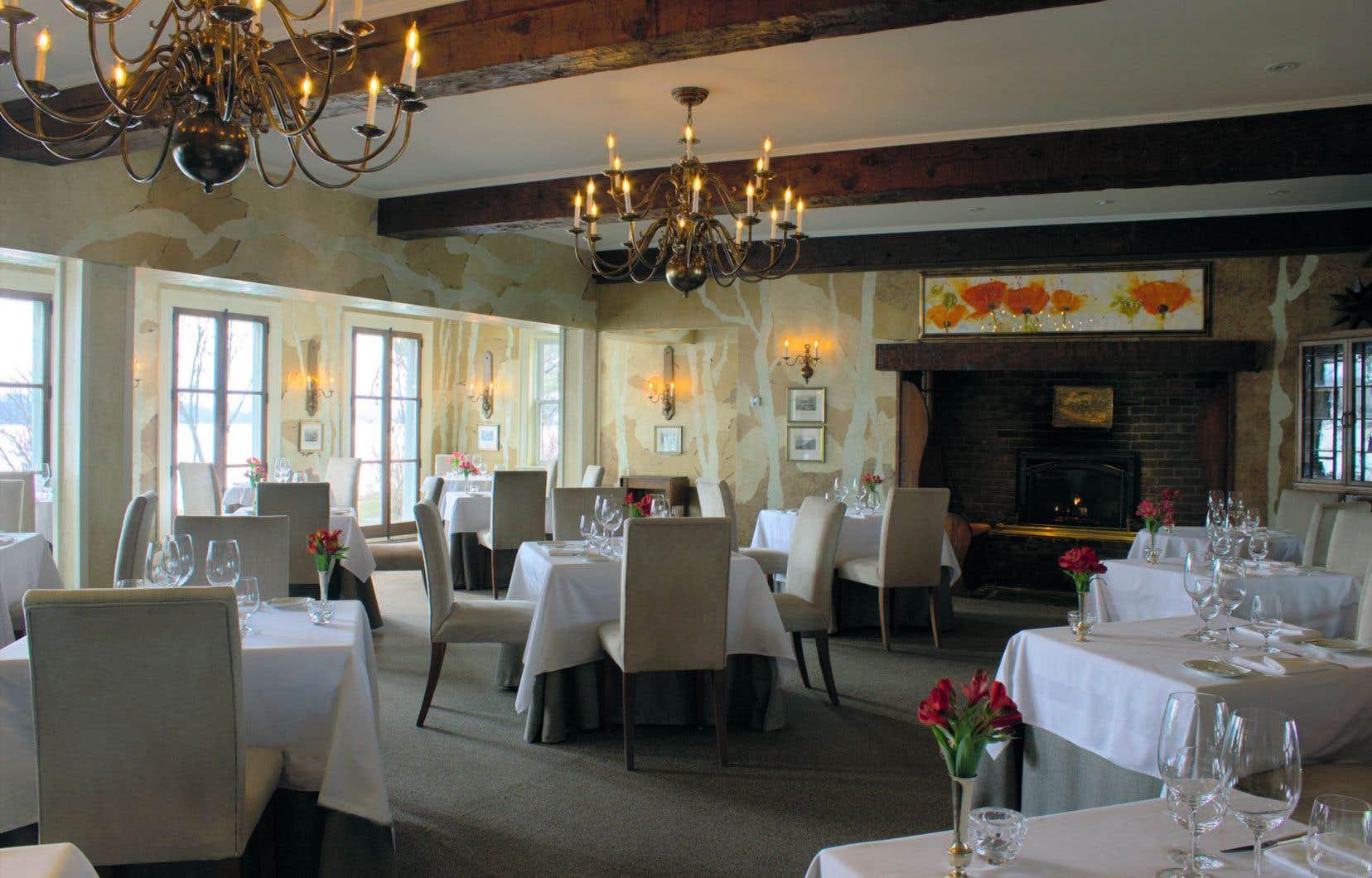 La salle à manger du chic restaurant Hatley