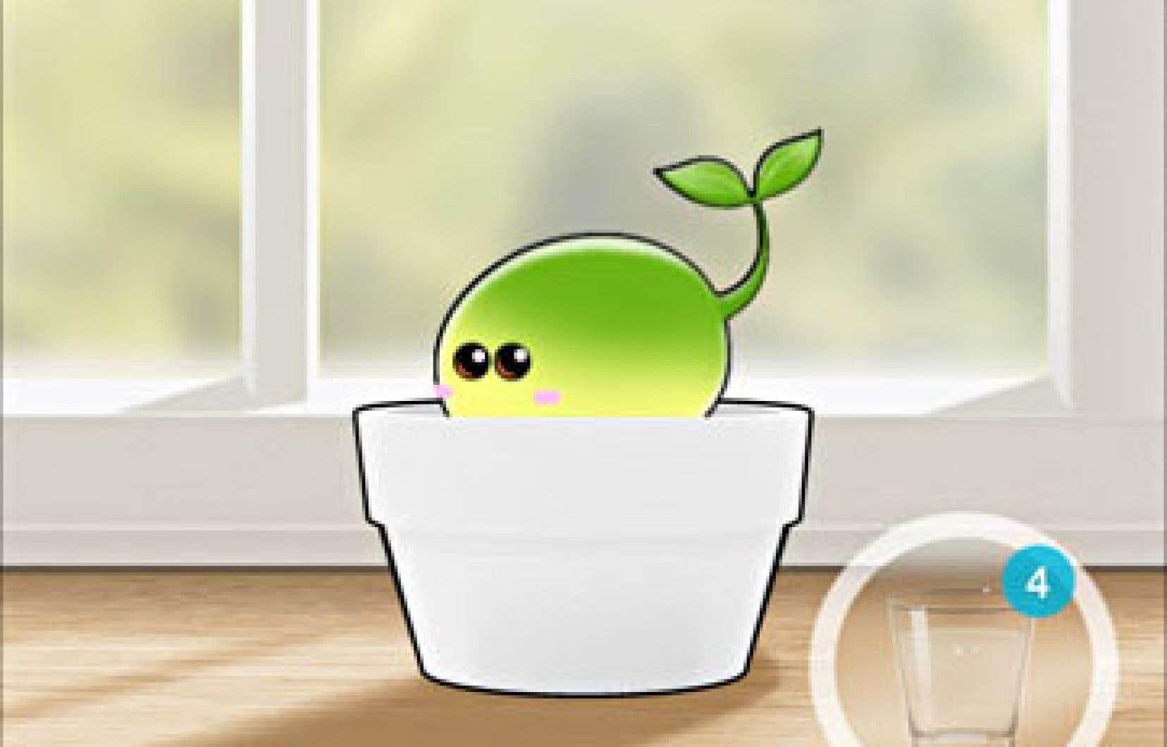 L'application Plant Nanny s'est donné la mission non seulement de rappeler à ses usagers qu'ils devraient boire de l'eau tout au long de la journée, mais aussi de rendre cela amusant.